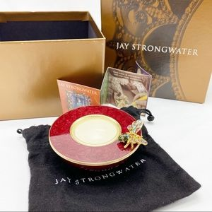 Jay Strongwater Butterfly Votive Candle Holder NIB